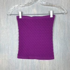Free People honey textured tube top purple XS/S